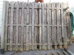 3 Picket Fence Sections 2 Are Atta Wood Fencing Panels And Pickets Lots Of Lumber K Bid