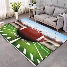 Baseball Green Football Carpet Kids Room Soccer Rug Field Parlor Bedro Jeromeburns101