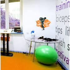 Trinx Polygonal Gym Body Building Wall Decal Wayfair