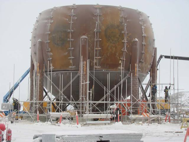 Image result for spherical storage tank multiple