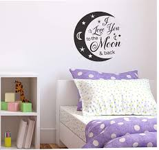 Amazon Com I Love You To The Moon And Back 12x12 Vinyl Decal 10 Color Choices Easy To Apply Indoor Outdoor Nursery Decor Baby Room Decor Child S Bedroom Decor Wall Decal Wall Sticker Handmade