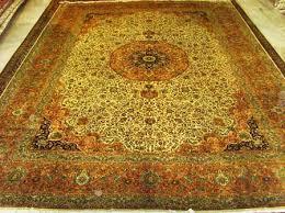 kashmiri silk carpet 185 185