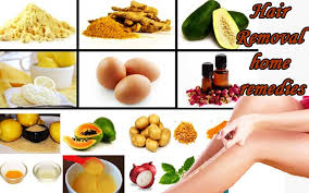 natural home remes for hair removal
