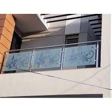 balcony designer glass railing rs 270