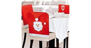 eBuyGB Pack of 4/6 0r 8 Red and White Santa Hat Christmas Chair Covers 4  Red 13093: Buy Online at Best Price in UAE - Amazon.ae