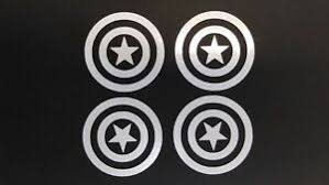 4x Captain America Vinyl Decal 2 Sticker Marvel Comic Car Truck Window Tumbler Ebay