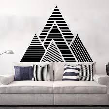 Huge Geometric Mountains Wall Sticker Bedroom Living Room Geometric Hills Mountains Travel Explore Wall Decal Kids Room Vinyl Leather Bag