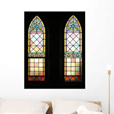 Amazon Com Wallmonkeys Stained Glass Windows Wall Decal Peel And Stick Graphic Wm75428 36 In H X 28 In W Home Kitchen