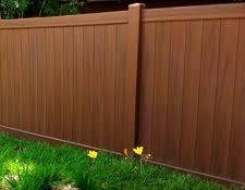 Mocha Walnut Vinyl Fencing Factory Direct Fence Design Vinyl Privacy Fence Wood Grain Vinyl Fence