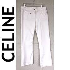celine jeans cline womens white flare