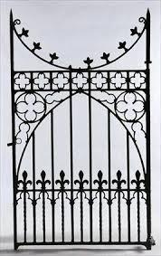 Gothic Revival Gate Sold Iron Gate Wrought Iron Gates Cast Iron Gates