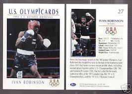 1992 US OLYMPIC HOPEFULS IVAN ROBINSON BOXING CARD #27 | eBay