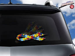 Autism Awareness Ribbon Wipertag Cover Attach To Rear Wipers Wipertags