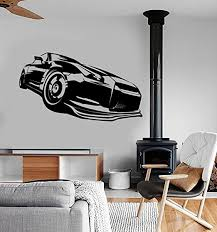 Amazon Com Wall Vinyl Decal Racing Car Truck Race Speed Vechicle Amazing Cool De And Stick Wall Decals Home Kitchen