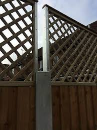 Postfix Concrete Fence Post Extension Height Extender Trellis Support Bracket 5 45 Picclick Uk