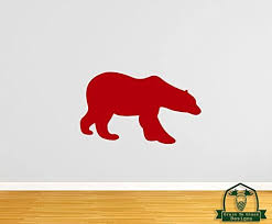 Amazon Com Grain To Glass Designs Polar Bear 45 Wall Decal Red Home Kitchen