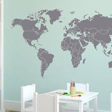 Wall Decal Large World Map With Countries From Zapoart On Etsy
