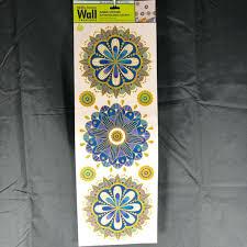 Main Street Wall Creations Wall Art 510 Sale Blue And Gold Mandala Wall Decal Poshmark