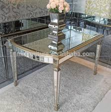 design mirrored dining table for