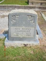 Ada Burns Hambright (1873-1961) - Find A Grave Memorial