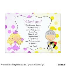 Tarjeta De Agradecimiento La Princesa Y El Caballero Le Agradecen