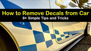 8 Simple Ways To Remove Decals From Car