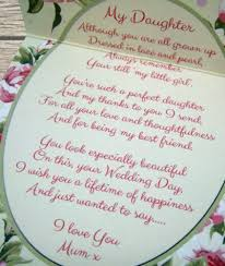 mother of the bride gift for daughter sentiments gift card wedding