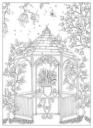 garden mandala coloring pages