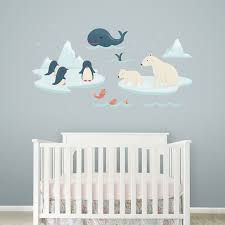 Arctic Creatures Wall Decal Polar Animals Wall Stickers