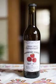 custom raspberry liqueur labels