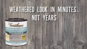 get a weathered wood look in minutes