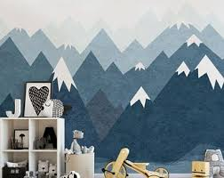Mountain Wall Decal Etsy