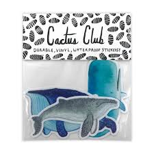 Whale Sticker Pack By Cactus Club Paper Made In Usa Cactus Club Paper Goods