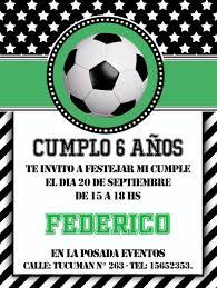 Invitaciones Para Cumpleanos Futbol 75 00 En Mercado Libre