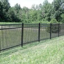 Freedom Standard New Haven 6 Ft H X 6 Ft W Black Aluminum Flat Top Decorative Fence Panel Lowes Com In 2020 Metal Fence Panels Fence Panels Metal Fence