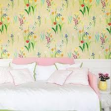 yellow tulips wallpaper design ideas