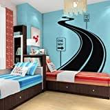 Amazon Com Kids Wall Stickers Stop Sign Stickers Traffic Sign Stickers Rail Road Crossing Sign Baby