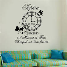 Personalised Kids Birth Clock Wall Art Sticker Decal Art Decor Home Decor Removable Modern Design Vinyl Living Wall Sticker Stickers On Your Wall Stickers To Decorate Walls From Onlinegame 12 66 Dhgate Com