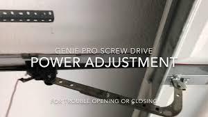 genie garage door opening or closing