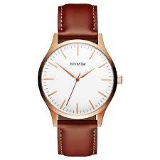 mvmt watches 45mm black face red accent