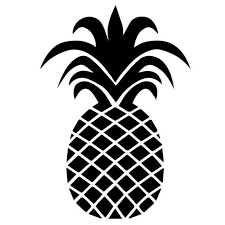 Pineapple Vinyl Decal Sticker Car Decal Yeti Sticker Laptop Sticker Gift Idea Car Accessory G Pineapple Images Cricut Silhouette Cameo Projects