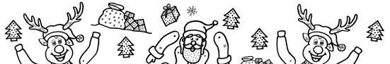 Kerst Trekpop Kleurplaten Kerstman En Rendier Kerst Knutselen