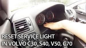 maintenance message in volvo v50