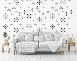 Atomic Starburst Decal Snowflake Wall Decal Christmas Etsy