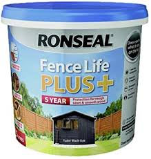 Ronseal Rslflppctbo5 5 Litre Fence Life Plus Tudor Paint Black Oak Amazon Co Uk Diy Tools