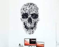 Skull Wall Decal Etsy