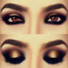 prom makeup ideas for black and gold