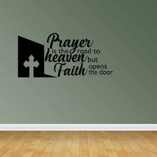 Prayer Road Heaven Vinyl Wall Decals Vinyl Decals Religious Decal Christian Decal Pc14 Walmart Com Walmart Com