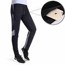 Sports Trousers Soccer Training Pants Men Joggers Slim Skinny ...