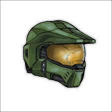 Master Chief Halo Helmet Spartan Video Game High Quality Vinyl Etsy